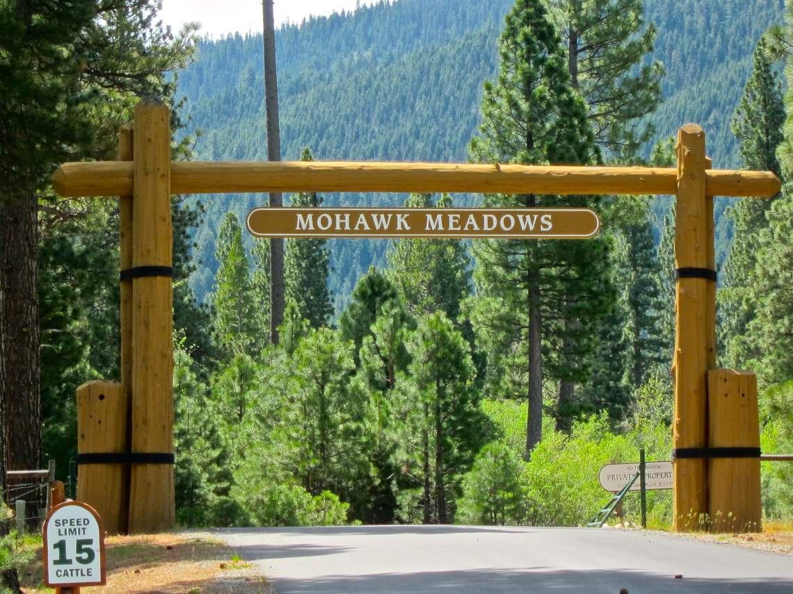 Mohawk Meadows overhead sign
