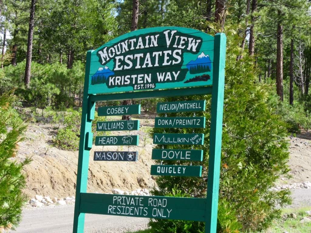 Mountain View estates sign