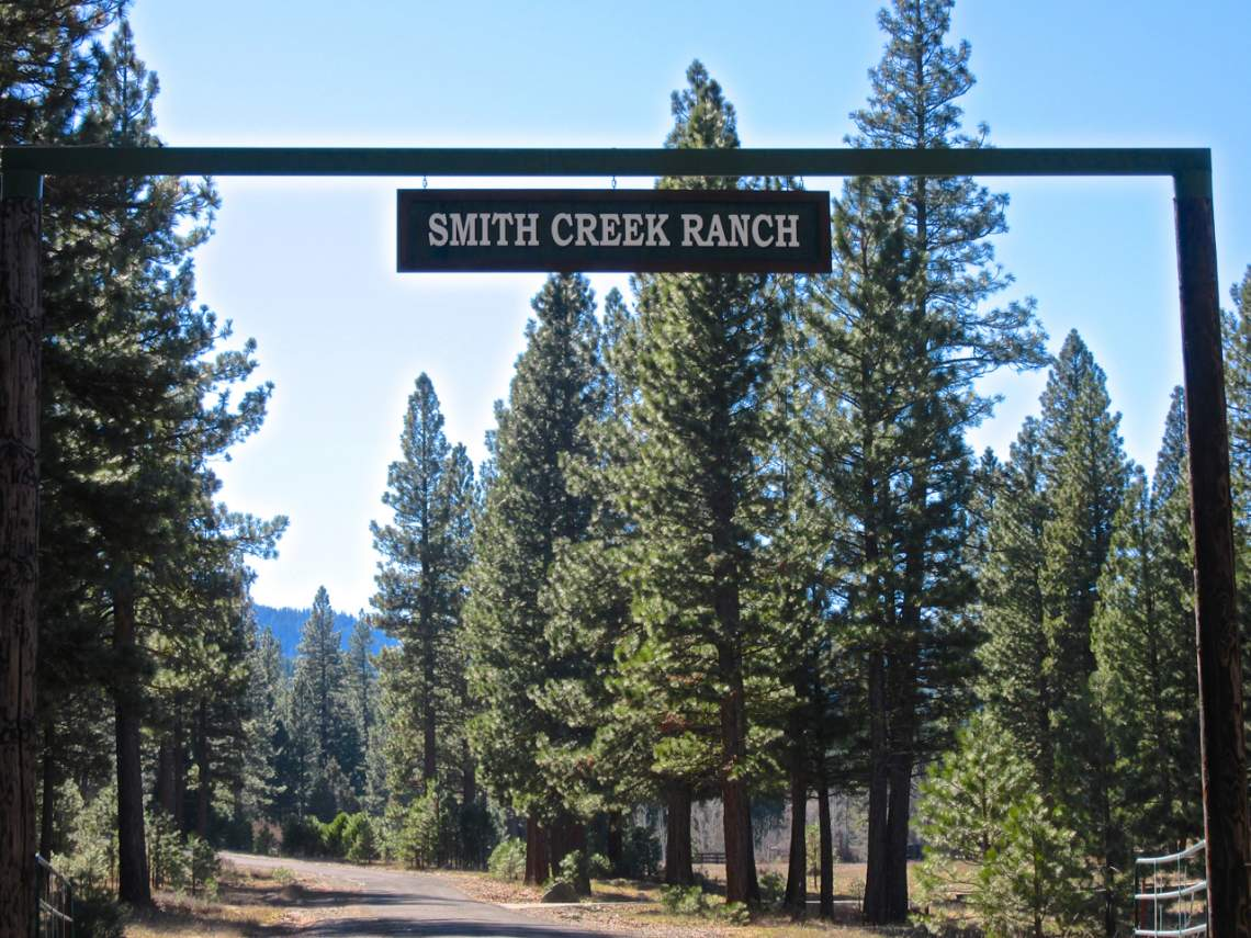 Smith Creek Ranch - sign