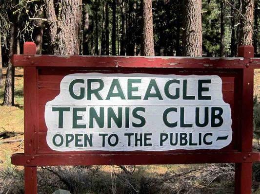 Graeagle tennis club sign