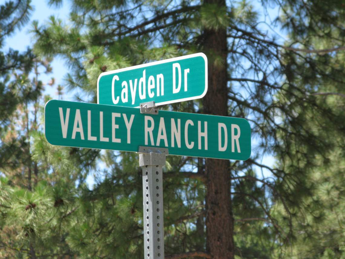 Cross street sign